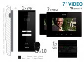 "KIT VIDEO 7"" smart+ · 4 Fire,negru aparent 2 FAMILII,VKM.P2SR.T7S4.ELB04"